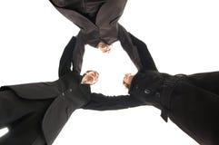 Unité de gens d'affaires au-dessus du fond blanc Photographie stock libre de droits