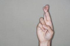 Unité de personnes de doigt Photos libres de droits
