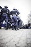 Unité de police anti-émeute Photographie stock libre de droits