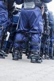 Unité de police anti-émeute Images stock