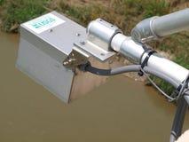 Unité de radar de moniteur de rivière d'USGS Photographie stock