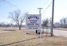 Unité de santé du comté de Crittenden de l'Arkansas Photos stock