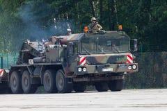 Unité de tracteur de SLT 50 Elefant et transporteur de réservoir résistants allemands Photo stock