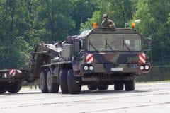 Unité de tracteur de SLT 50 Elefant et transporteur de réservoir résistants allemands Image stock