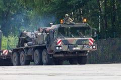 Unité de tracteur de SLT 50 Elefant et transporteur de réservoir résistants allemands Photographie stock libre de droits