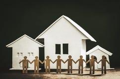 Unité et amitié des voisins Images libres de droits