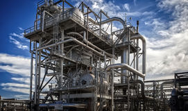 Unité et installation de fabrication de raffinerie ou d'usine chimique Images stock