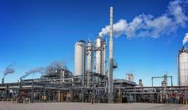 Unité et installation de fabrication de raffinerie ou d'usine chimique Photographie stock
