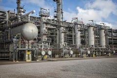 Unité et installation de fabrication de raffinerie ou d'usine chimique Photo stock