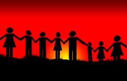 Unité et paix Images stock