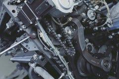 Unité mécanique avec la chaîne et le pignon photographie stock