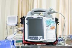 Unité mobile de défibrillateur de coeur - équipement de technologie de pointe de secours Photographie stock