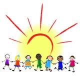 Unité multiculturelle dans la diversité Conception plate d'ensemble illustration libre de droits