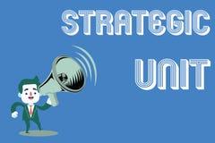 Unité stratégique des textes d'écriture de Word Le concept d'affaires pour le centre de profits s'est concentré sur l'offre et le images stock