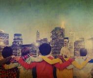 Unité Team Concept d'entreprise de vue arrière de personnes Photographie stock libre de droits