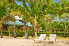 Unités d'hôtel à la plage d'amitié, Bequia Images stock
