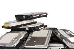 Unités de disque dur de grande pile Images stock