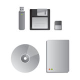 Unités de disque dur et dispositifs de mémoire Photographie stock