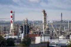 Unités de raffinerie de pétrole Photos stock