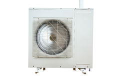 Unit of Air Conditioner on isolated white Royalty Free Stock Photos