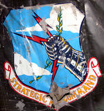 Unit Badge. Old badge on aircrafts wing Stock Photo