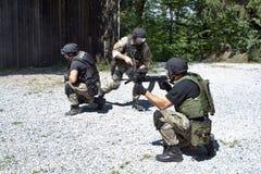 Unité de police spéciale dans la formation Image libre de droits