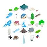 Unit icons set, cartoon style. Unit icons set. Cartoon set of 25 unit vector icons for web isolated on white background Stock Image