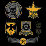 Unit military emblem set vector design template Royalty Free Stock Photo