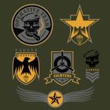 Unit military emblem set vector design template Stock Photography