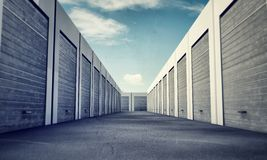 Unit storage. In old photo Royalty Free Stock Photo