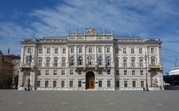 Unita d Italia da praça, Trieste, Itália imagem de stock royalty free