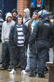 Unite Against Fascism/English Defence League Royalty Free Stock Photo