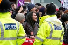 Unite Against Fascism (UAF) Singing Royalty Free Stock Photos