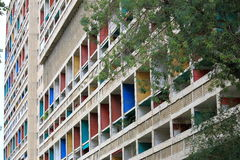 The Unite d'Habitation Corbusier in French city Marseille. The Unite d'Habitation in Marseille was the first large scale project for the famed stock image