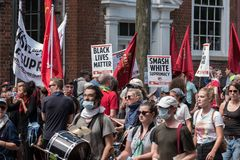 Free Unite The Right Rally 11:49 Stock Photo - 115851630