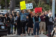 United Against Kavanaugh Protest Bevery Hills stock image