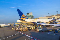 United Aircraft standing at Stock Photography