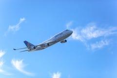 United Airlines Боинг 747 Стоковая Фотография