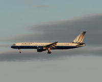 United Airlines Foto de Stock Royalty Free