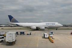 United Airlines Images libres de droits