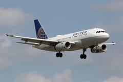 United Airlines Airbus A319 Fotos de archivo libres de regalías