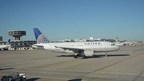United Airlines Airbus jet airplane side view stock video footage