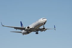 United Airlines Aircraft Over LAX Royalty Free Stock Images