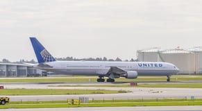 United Airlines Boeing 767 Images libres de droits