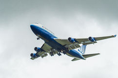 United Airlines Boeing 747 Stockfoto