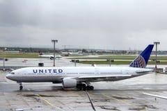 United Airlines Boeing 777 Στοκ Φωτογραφία