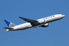 United Airlines Boeing 777-200 Stock Afbeelding