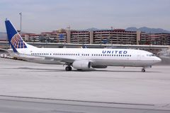 United Airlines Boeing 737 Photo stock