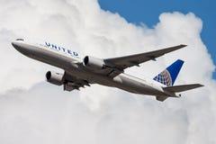 Free United Airlines Boeing 777-200 N775UA Passenger Plane Departure At Frankfurt Airport Royalty Free Stock Image - 155218716