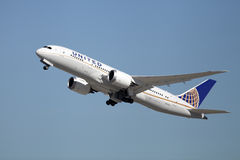 United Airlines Boeing 787-8 Dreamliner Royaltyfri Foto